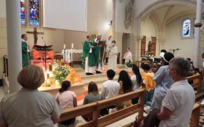 Messe de rentrée MP3 et première messe présidée par Père Vianney à Enghien