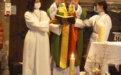 Premières messes dominicales des Pères Vianney et  Charles-Thierry à Saint-Gratien