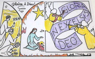 Cartes de vœux des enfants de la catéchèse de Saint-Gratien