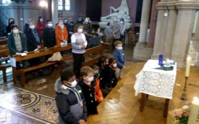 Henri, Théo, William, Alycia, Timothée et Patricia, en route vers le baptême